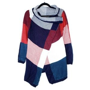 Red White Blue Slouchy Sweater